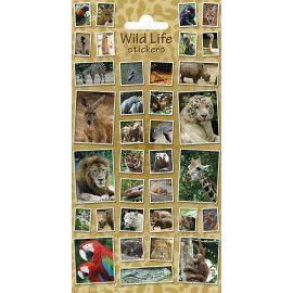 Stickers med vilde dyr