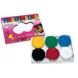 Fingermaling 6 farver