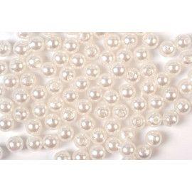 Voksperler runde 3mm hvide
