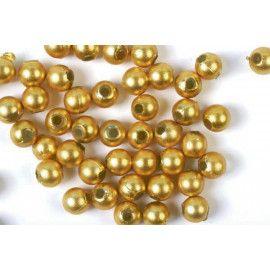 voksperler runde 3mm guld
