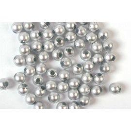 Voksperler runde 3mm sølv