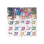 21 år fødselsdag konfetti