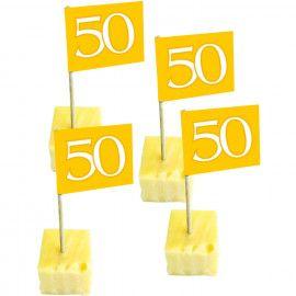 Små guld cocktail flag 50 år