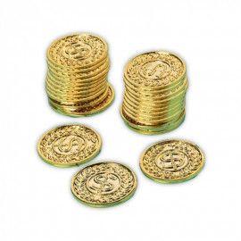 Guld-mønter-dollars-motiv
