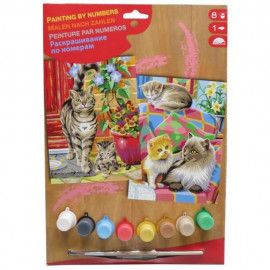 Paint By Numbers - Mal efter tal A4 katte