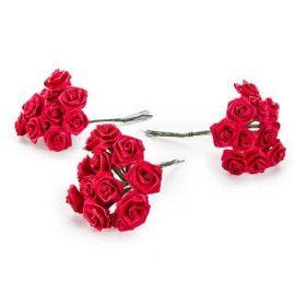 kunstige-små-røde-roser-buket