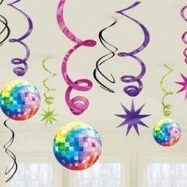 Disco hvirvel dekorationer
