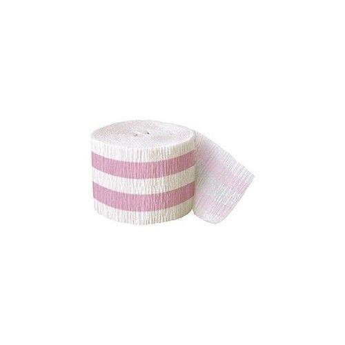 Crepepapir rulle, med lyserøde striber