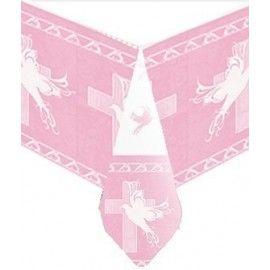Barnedåb-dug-lyserød-kors