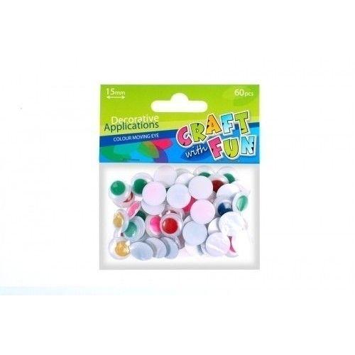 Rulleøjne 15mm mix farver