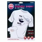Transfer papir A4 til lys tekstil 20 ark