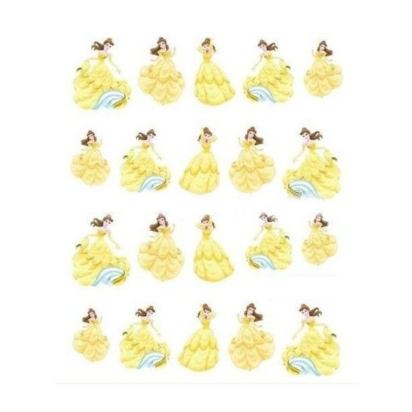 Disney Belle negle stickers