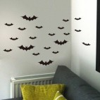 Halloween flagermus wallstickers