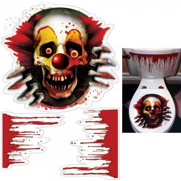 Halloween toilet stickers