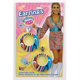 70'er neon øreringe