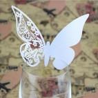 Bordkort til glas perlemorsfarvet sommerfugle