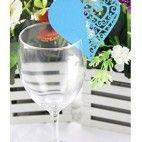 Bordkort til glas turkis hjerte