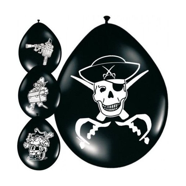Pirat balloner 8 pak