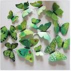 3D sommerfugle grønne