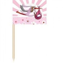 barnedåbspynt-små-lyserøde-flag