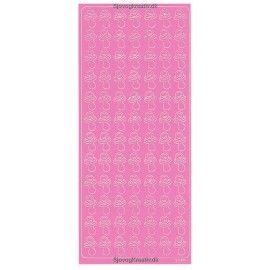 Stickers-barnedåb-lyserøde-sutter
