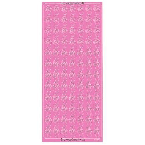 Stickers med lyserøde sutter