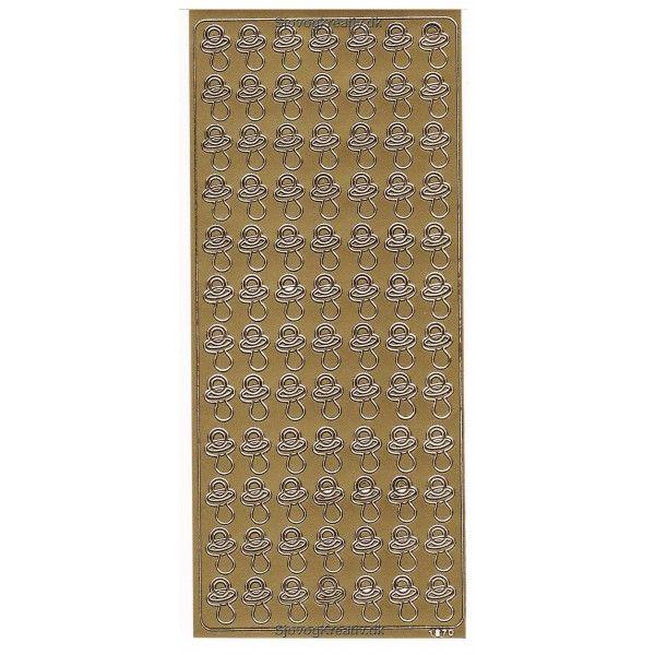 Stickers med sutter i guld