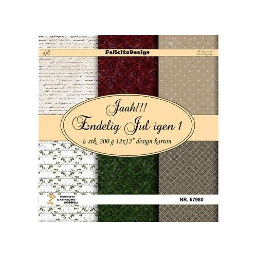 Scrap papir Felicita design - Jaa!!! Endelig jul 1 - 67980