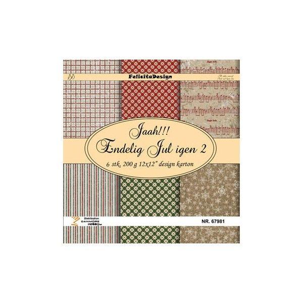 Scrap papir Felicita design -  Jaa!!! Endelig jul 2 - 67981