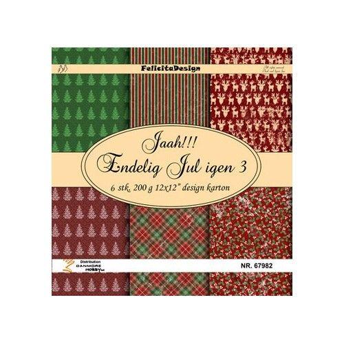 Scrap papir Felicita design - Jaa!!! Endelig jul 3 - 67982