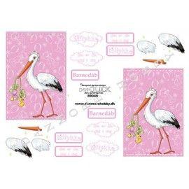 barnedåb-3d-ark-stork-lyserød