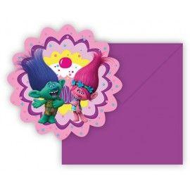 Trolls-fødselsdag-invitationer