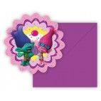 Trolls børnefødselsdags invitationer