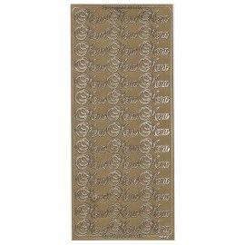Stickers Menu guld 6669