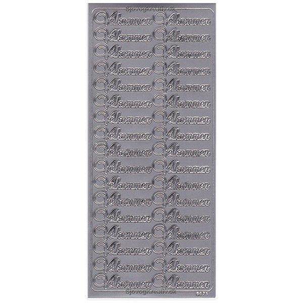 Stickers Velkommen sølv 6671