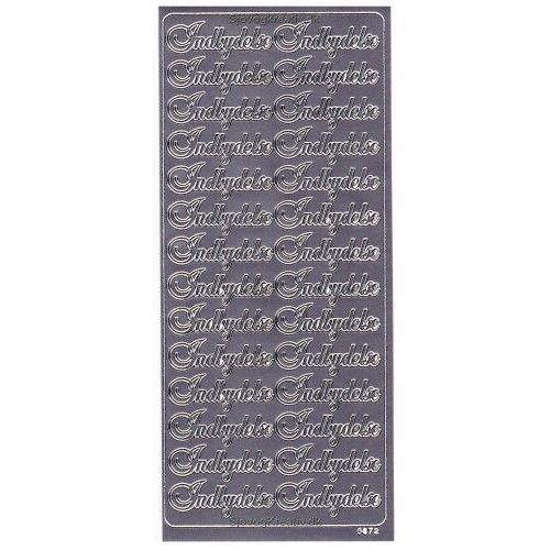 Stickers Indbydelse sølv 6672