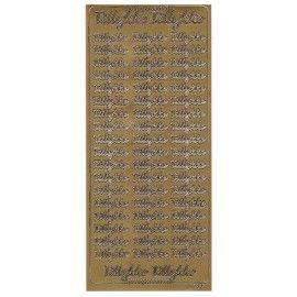 Stickers Tillykke guld 7000