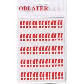 Oblater, flag med bølge, 70 stk.
