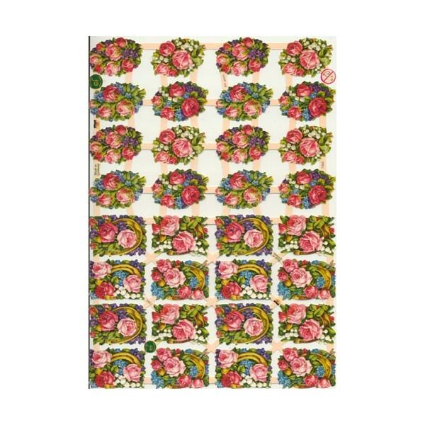 Glansbilleder med små roser