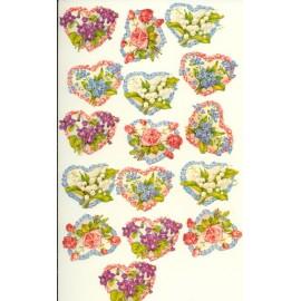 Glansbilleder-udstanset-blomster