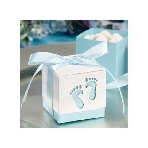 Lyseblå gaveæske babyfødder