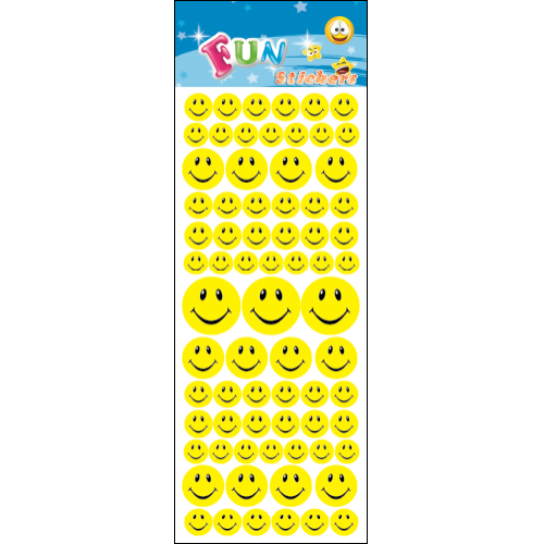 Stickers-med-gule-smileys