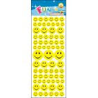 Stickers med glade smileys
