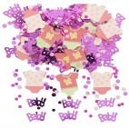 Barnedåb og Baby Shower konfetti lyserød