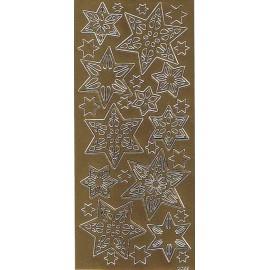 Stickers-med-guld-stjerner