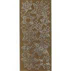 Stickers med stjerner i guld