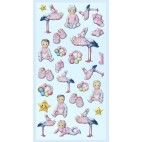 Barnedåb stickers Babygirl II