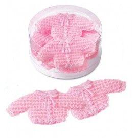Barnedåbspynt-hæklet-trøje-i-lyserød
