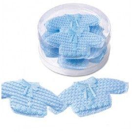 Barnedåbspynt-hæklet-trøje-lyseblå