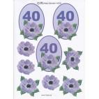3D ark til 40 år fødselsdag